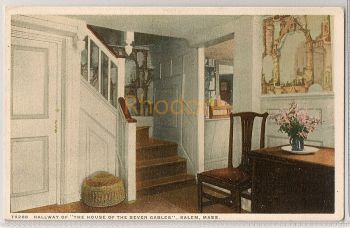 USA: Massachusetts. Hallway Of The House Of The Seven Gables, Salem, MA. Early 1900s Postcard