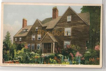 USA: Massachusetts. Garden View To The House Of The Seven Gables, Salem, MA. Early 1900s Postcard