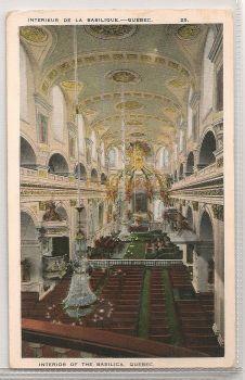 Canada: Quebec. The Basilica, Interior View. Early 1900s Postcard