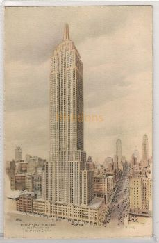 USA: New York. Empire State Building And Fifth Avenue, New York City. Art View Postcard