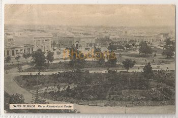 South America: Argentina.  Bahia Blanca Plaza Rivadavia al Oeste. Early 1900s Buenos Aires Postmark