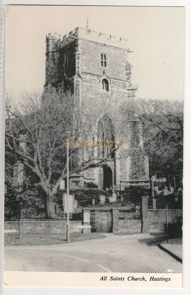England: Sussex. All Saints Church Hastings Postcard View