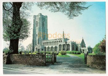 England: Suffolk. The Church Of Saints Peter And Paul, Lavenham. Colour Printed Postcard
