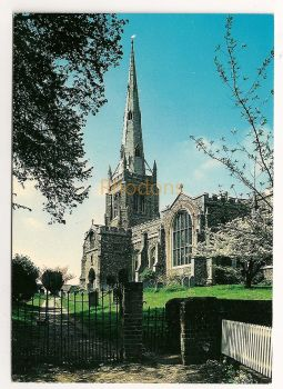 England: Essex. Thaxted Parish Church, Colour Printed Postcard.