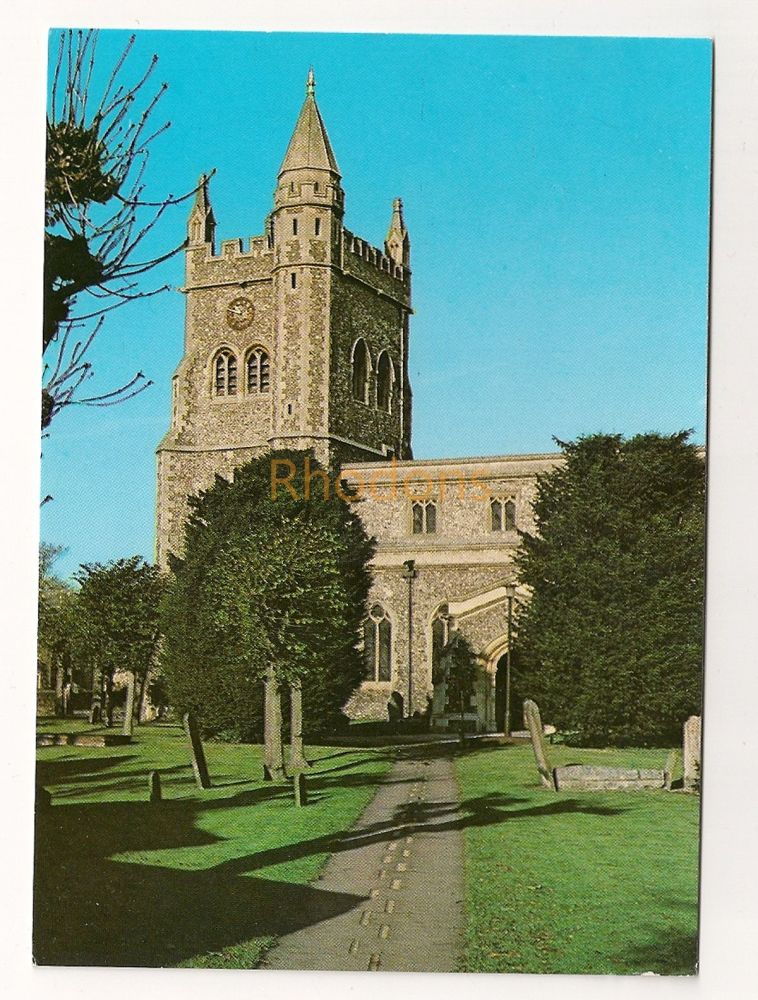England: Buckinghamshire, UK: The Parish Church Of St Mary, Amersham Bucks. Colour Printed Postcard