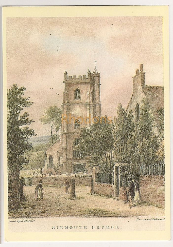 England: Devon. Sidmouth Church From Lithograph By H Haseler