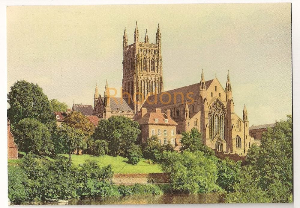 England: Worcestershire. Worcester Cathedral From The River. Colour Printed Postcard
