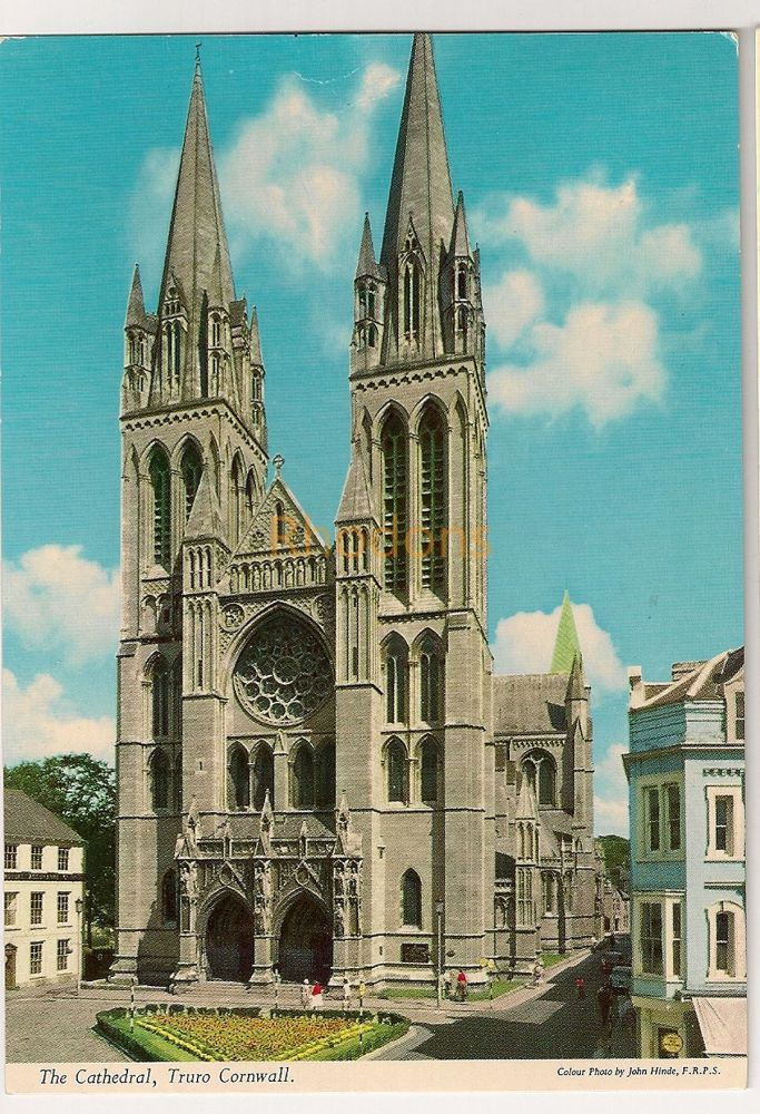 England: Cornwall. The Cathedral, Truro. Colour Printed Postcard. Photo By John Hinde F R P S