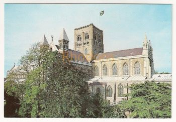 England: Hertfordshire. Cathedral And Abbey Church Of Saint Alban, St Albans Judges Colour Postcard C 1864X