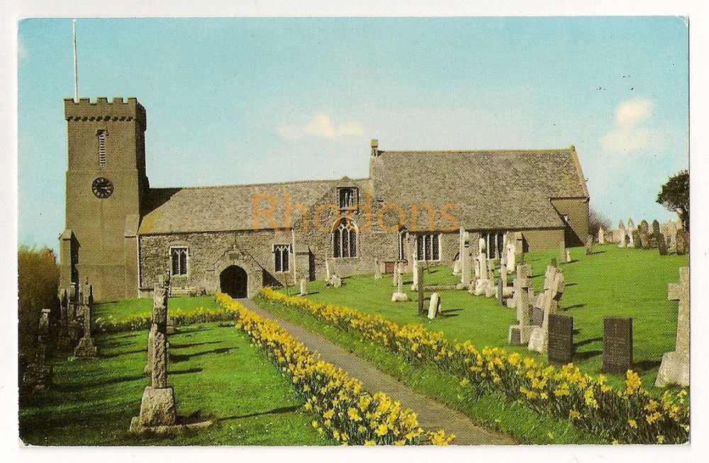 England: Cornwall. Crantock Church, Newquay, Cornwall. Colour Photo Postcard