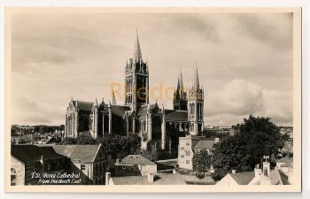 England: Cornwall. Truro Cathedral From The North East. Real Photo Postcard