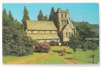 Wales: The Parish Church, Betws-Y-Coed. Coloured Printed Postcard. Circa 1980s