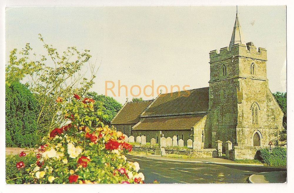 England: Isle of Wight (IOW). St Marys Church Brighstone Colour Postcard
