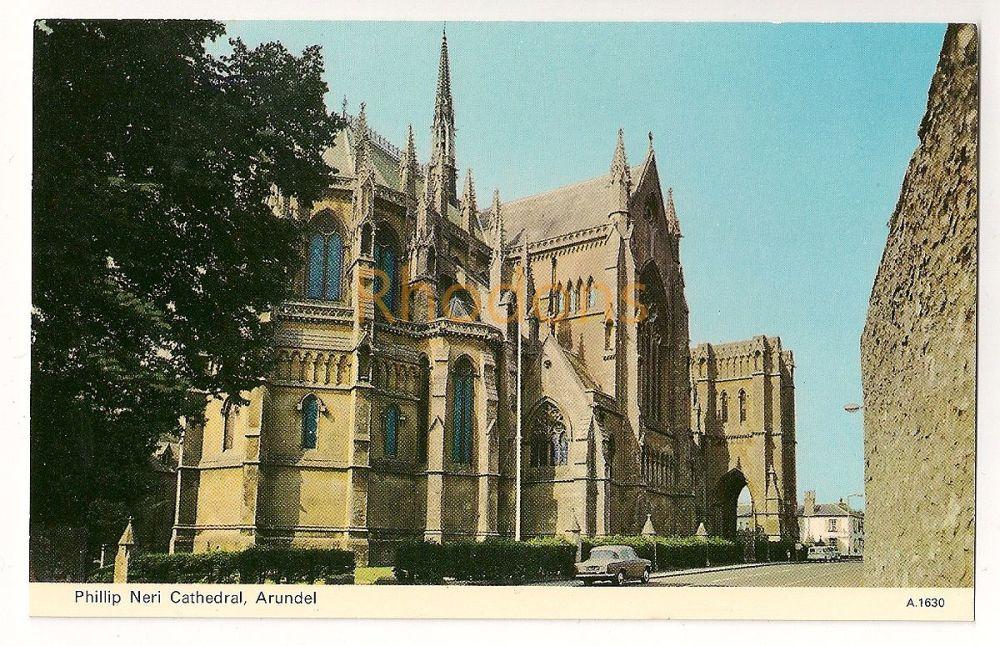 England: Sussex. Philip Neri Cathedral, Arundel. Colour Postcard