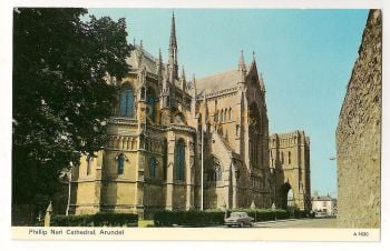 England: Sussex. Philip Neri Cathedral, Arundel. Colour Postcard