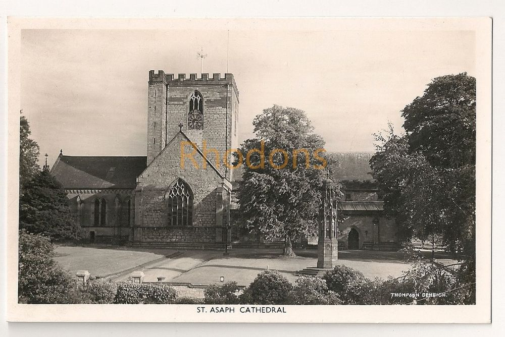 Wales: St Asaph Cathedral, Denbighshire. Real Photo Postcard