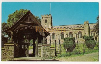 England: Somerset. The Anglican Church of All Saints in Dulverton. Colour Photo Postcard