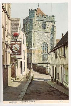 England: Sussex. St Clements Church, Hastings. Colour Photo Postcard