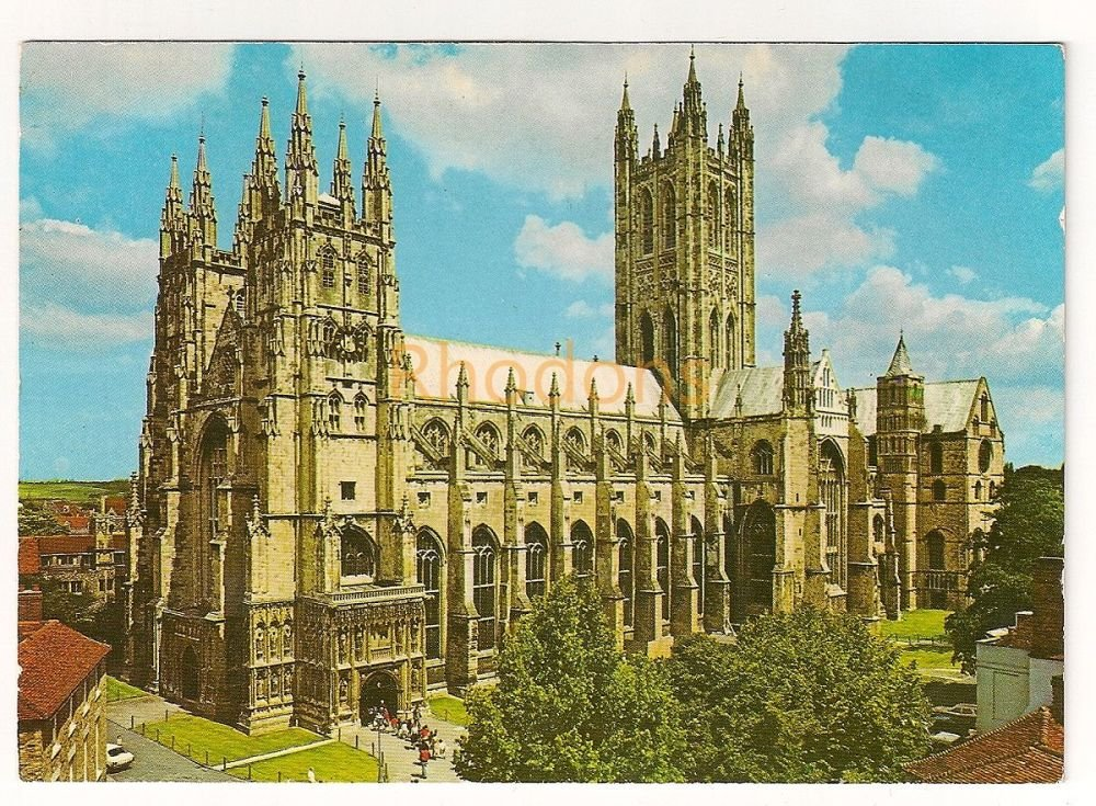 England: Kent. Canterbury Cathedral, John Hinde Colour Photo Postcard