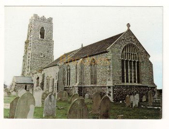 England: Suffolk. St Bartholomews Church, Corton, Suffolk. Colour Photo Postcard