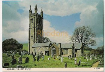 England: Devon. Widecombe In The Moor Church. Colour Photo Postcard
