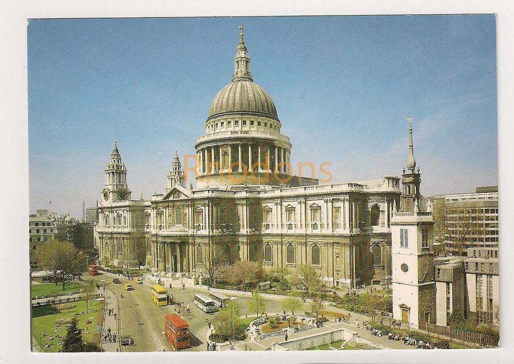 England: London. St Pauls Cathedral Colour Photo Postcard View From The South East