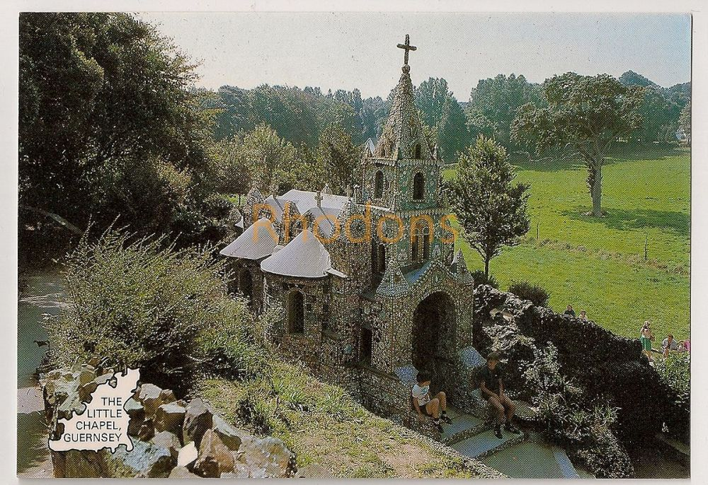 Channel Islands: Guernsey. The Little Chapel, The Smallest Chapel In The World. Colour Photo Postcard