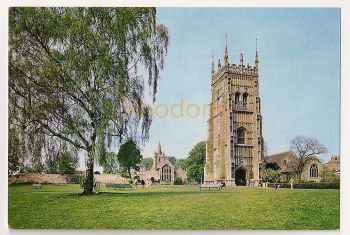 England: Worcestershire. The Bell Tower, Evesham. Colour Printed Photo Postcard