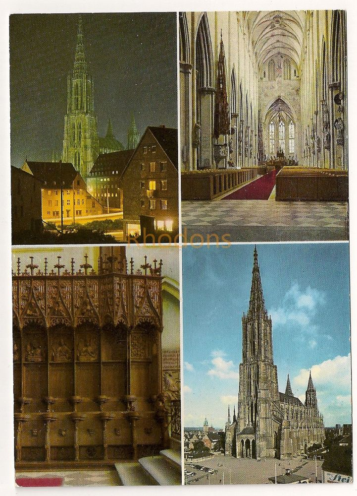 Germany: Ulm / Donnau. Das Munster, Ulm Minster. Multiview Colour Photo Postcard