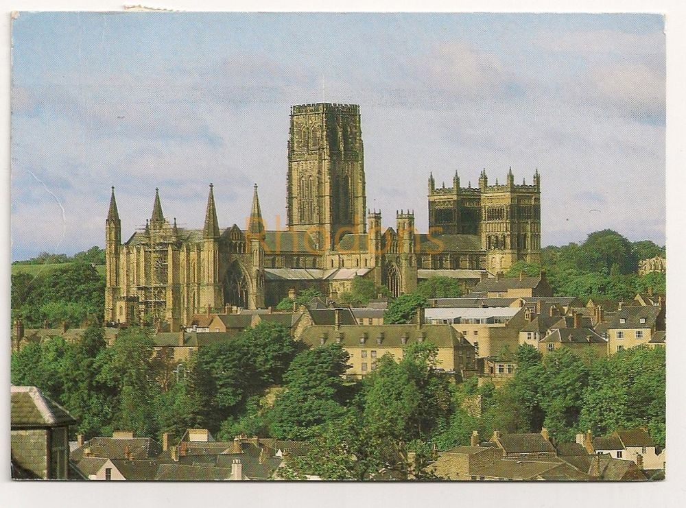 England: Durham County. Durham Cathedral From North East. Colour Photo Postcard
