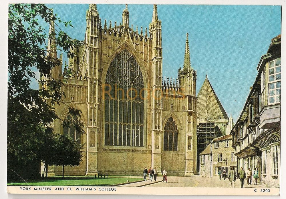 England: Yorkshire. York Minster And St Williams College. Colour Photo Postcard