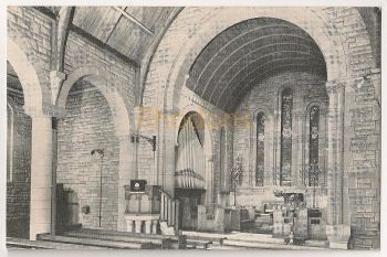 Scotland: Ayreshire. St Nicholas Church Prestwick Interior View Postcard