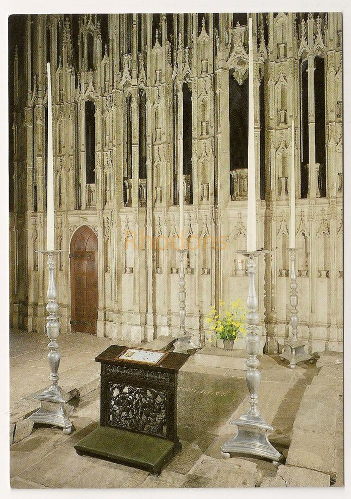 England: Durham. St Cuthberts Tomb, Durham Cathedral. Colour Postcard