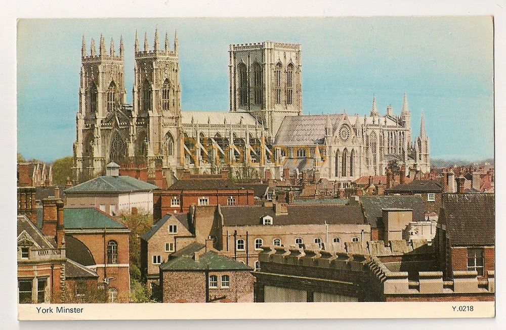 England: Yorkshire. York Minster Colour Photo Postcard