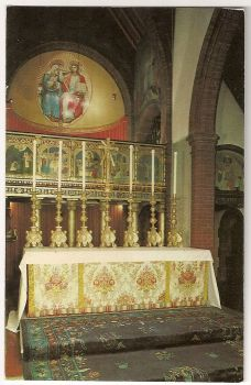 England: Norfolk. Shrine Of Our Lady Walsingham Coronation Chapel And High Altar Colour Photo Postcard