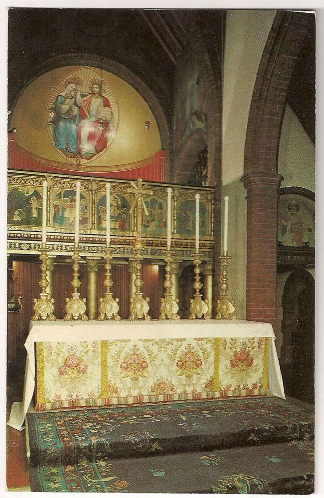 England: Norfolk. Shrine Of Our Lady Walsingham Coronation Chapel And High Altar Colour Photo Postcard