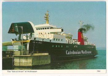 Caledonian MacBrayne Ferry. The Isle Of Arran At Ardrossan. Scottish Ferry Boat Colour Photo Postcard
