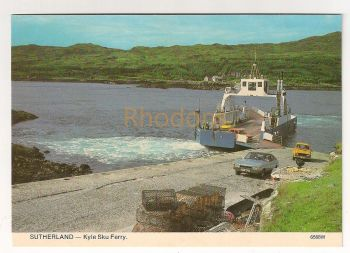 Scotland: Sutherland. Kyle Sku Ferry.  Scottish Ferry Boat Colour Photo Postcard