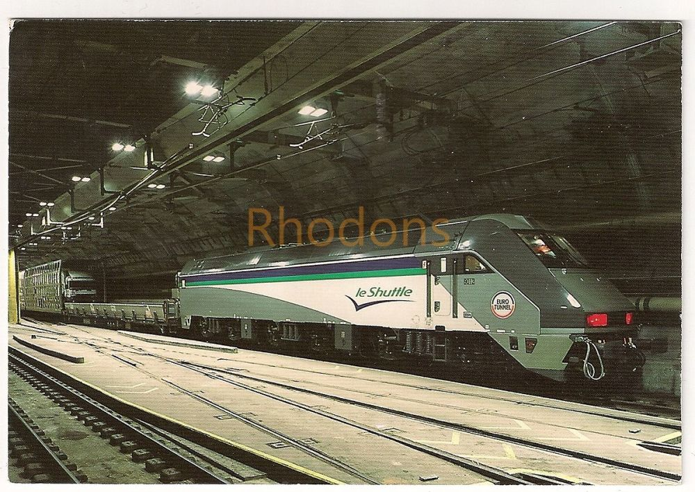 Eurotunnel Le Shuttle Locomotive. Colour Photo Postcard