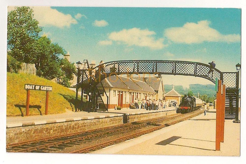 Scotland: The Strathspey Steam Railway, Boat Of Garten Station July 22 1978. Colour Photo Postcard.