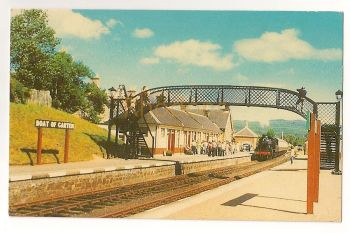 Scotland: The Strathspey Steam Railway, Boat Of Garten Station July 22 1978. Colour Photo Postcard.