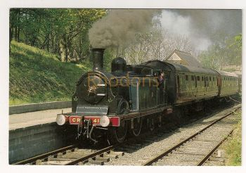 Scotland: Caledonian Railway Steam Locomotive No 419. Colour Photo Postcard