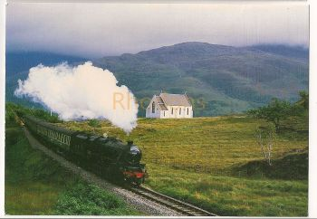 Scotland: The 'West Highlander' At Polnish Between Fort William And Mallaig. Colour Photo Postcard