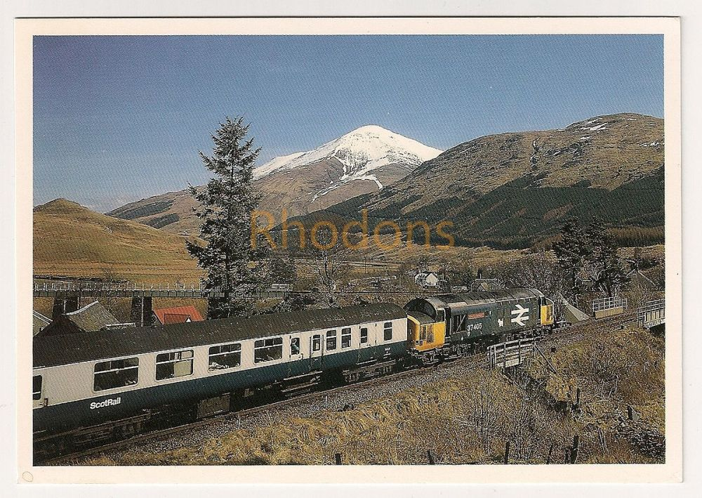 Scotland: Ben More, Crianlarich. Class 37//4 37405 Locomotive And Train Colour Photo Postcard
