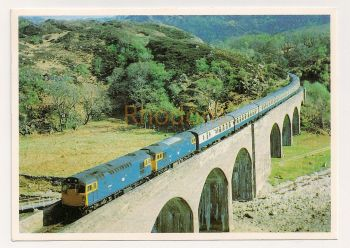 Scotland: Mallaig Line Series Railway Photo Postcard. Double Head Excursion Special Crossing Gleann Mama Viaduct