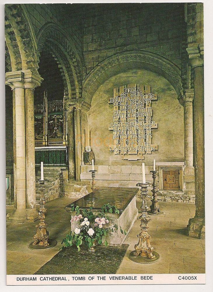 England: Durham. Tomb Of The Venearble Bede, Durham Cathedral. Colour Postcard