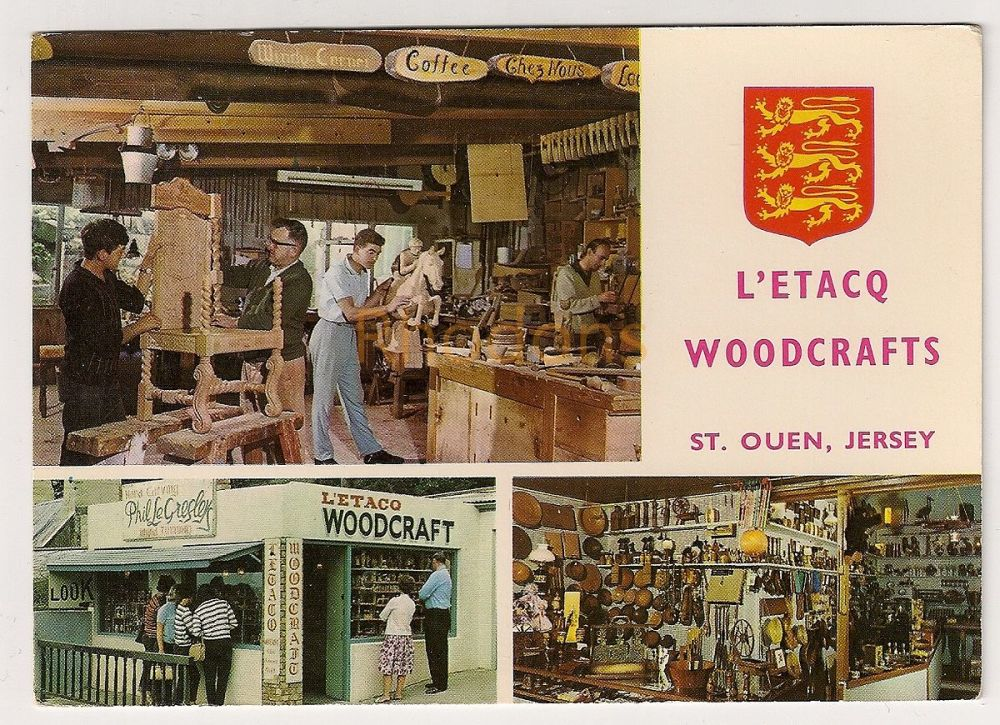 Channel Islands: Jersey. L'Etac Woodcrafts, St Ouen Advertising Postcard