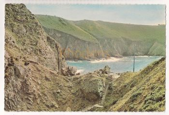Channel Islands: Jersey. Devils Hole,  Colour Photo Postcard View