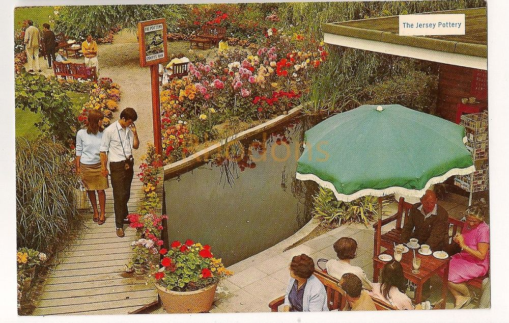 Channel Islands: Jersey. Garden Of The Jersey Pottery, Circa 1960s Colour Photo Postcard