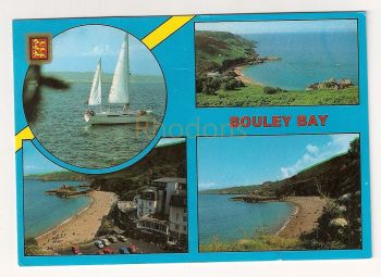 Channel Islands: Jersey. Bouley Bay Multiview Colour Postcard